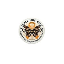 Multiple-Sclerosis-Butterfly-Tribal-2 Mini Button