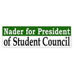 Ralph Nader for President (bumper sticker)