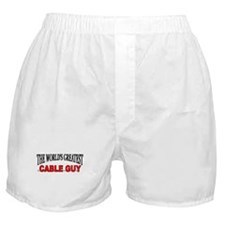 """""""The World's Greatest Cable Guy"""" Boxer Shorts"""