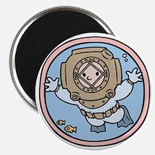 diver-womb-T Magnet