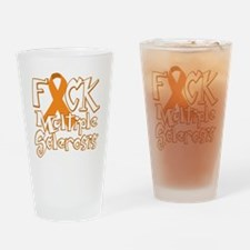 Fuck-Multiple-Sclerosis-blk Drinking Glass