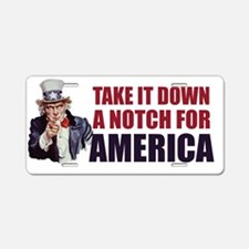 Uncle-Sam---Take-it-down-a- Aluminum License Plate