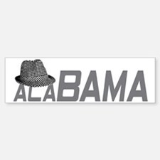 ALABAMA HAT_GRAY Bumper Bumper Sticker