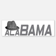 ALABAMA HAT_GRAY Sticker (Bumper)
