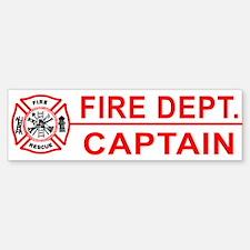 Fire Department Captain Bumper Bumper Bumper Sticker