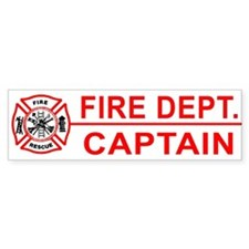 Fire Department Captain Bumper Stickers