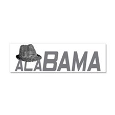 ALABAMA HAT_GRAY Car Magnet 10 x 3