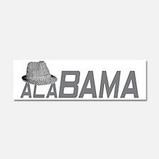 ALABAMA HAT_GRAY Car Magnet 10 x 3