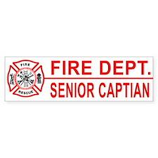 Fire Department Senior Captian Bumper Bumper Sticker