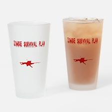 Zombie1_dark Drinking Glass