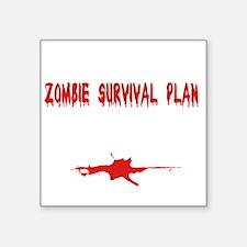 "Zombie1_dark Square Sticker 3"" x 3"""