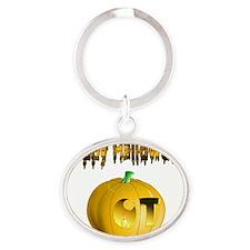 pumpkin Oval Keychain