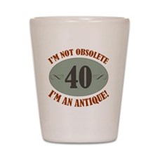 Obsolete40 Shot Glass