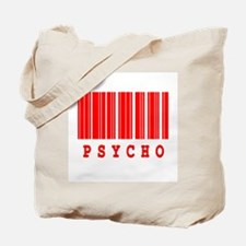 Psycho Barcode Design Tote Bag