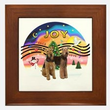 XMusic2 - Two Airedales Framed Tile