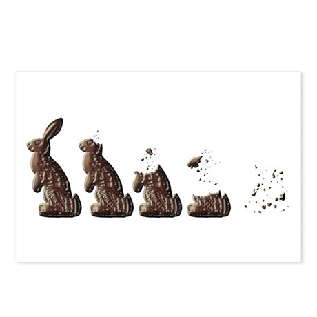 From Chocolate Easter Bunny to zero in 5sec Postca