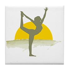 AccentImage yoga sun Tile Coaster