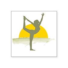 """AccentImage yoga sun Square Sticker 3"""" x 3"""""""