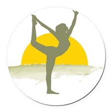 AccentImage yoga sun Round Car Magnet