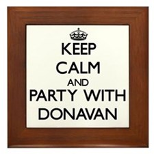 Keep Calm and Party with Donavan Framed Tile