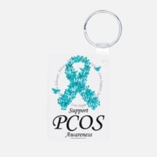 PCOS-Ribbon-Of-Butterflies Keychains