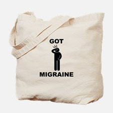 Got Migraine Black Tote Bag