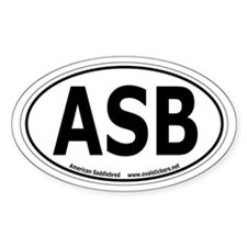 "American Saddlebred ""ASB"" Oval Car Decal"