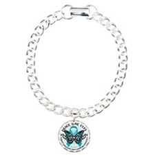 PCOS-Butterfly-Tribal-2 Charm Bracelet, One Charm