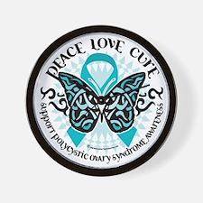 PCOS-Butterfly-Tribal-2 Wall Clock