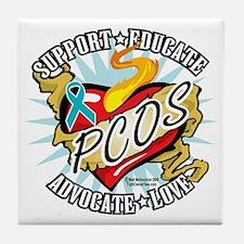 PCOS-Classic-Heart Tile Coaster