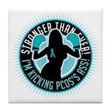 PCOS-Boxing-Girl Tile Coaster