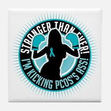 PCOS-Boxing-Girl Tile Coaster