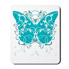 PCOS-Butterfly-BLK Mousepad