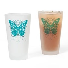 PCOS-Butterfly-BLK Drinking Glass