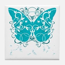 PCOS-Butterfly-BLK Tile Coaster