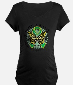 Gastroparesis-Butterfly-Tri T-Shirt