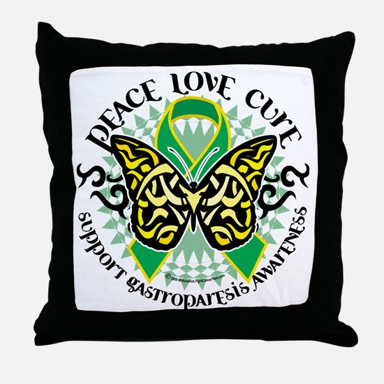 Gastroparesis-Butterfly-Tribal-2 Throw Pillow