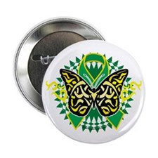 """Gastroparesis-Butterfly-Tribal-2-blk 2.25"""" Button"""