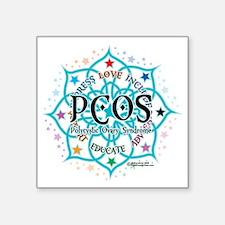 "PCOS-Lotus Square Sticker 3"" x 3"""