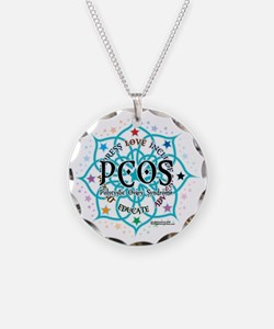 PCOS-Lotus Necklace Circle Charm