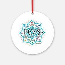 PCOS-Lotus Round Ornament