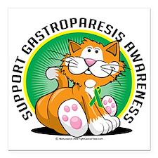 "Gastroparesis-Cat Square Car Magnet 3"" x 3"""