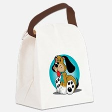 PCOS-Dog-blk Canvas Lunch Bag