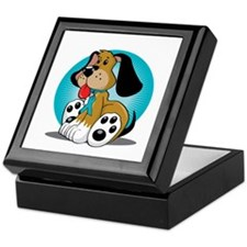 PCOS-Dog-blk Keepsake Box