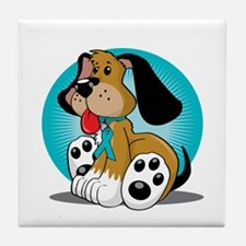 PCOS-Dog-blk Tile Coaster