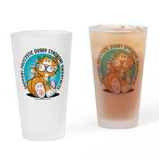 PCOS-Cat Drinking Glass