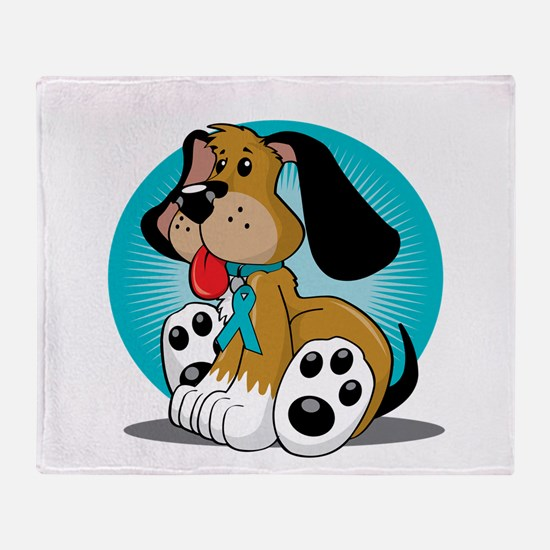 PCOS-Dog-blk Throw Blanket