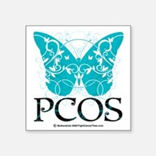 "PCOS-Butterfly Square Sticker 3"" x 3"""