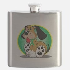 Gastroparesis-Dog-blk Flask