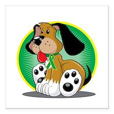 """Gastroparesis-Dog-blk Square Car Magnet 3"""" x 3"""""""